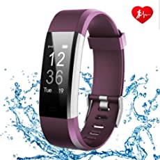 FONCBIEN Orologio collegato, Bracciale Collegato Donna Uomo Bluetooth Sport orologio podometre Smart Watch cardiofrequenzimetro per Android IOS samsang Huawei