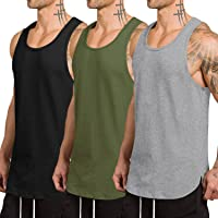 COOFANDY Men's 3 Pack Quick Dry Workout Vest Gym Muscle Tee Fitness Bodybuilding Sleeveless T Shirt