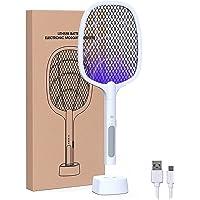 MASAYUKI Rechargeable Handheld Electric Fly Swatter Mosquito Killer Racket Bat with UV Light Lamp Racket USB Charging…