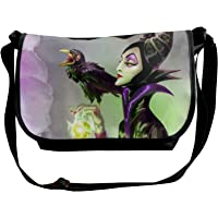 JONINOT Maleficent Crow Borse a Tracolla Crossbody Business Slim Pendolare Viaggio out-Going Cosmetics Sling Bag