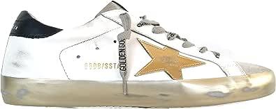 Golden Goose Sneakers Uomo Vintage Superstar G36MS590.T80 Bianco Nero