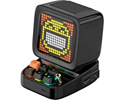 Divoom Ditoo Multifunctional Pixel Art LED Tragbarer Bluetooth Lautsprecher, 256 Programmierbares LED Panel mit Party Licht,