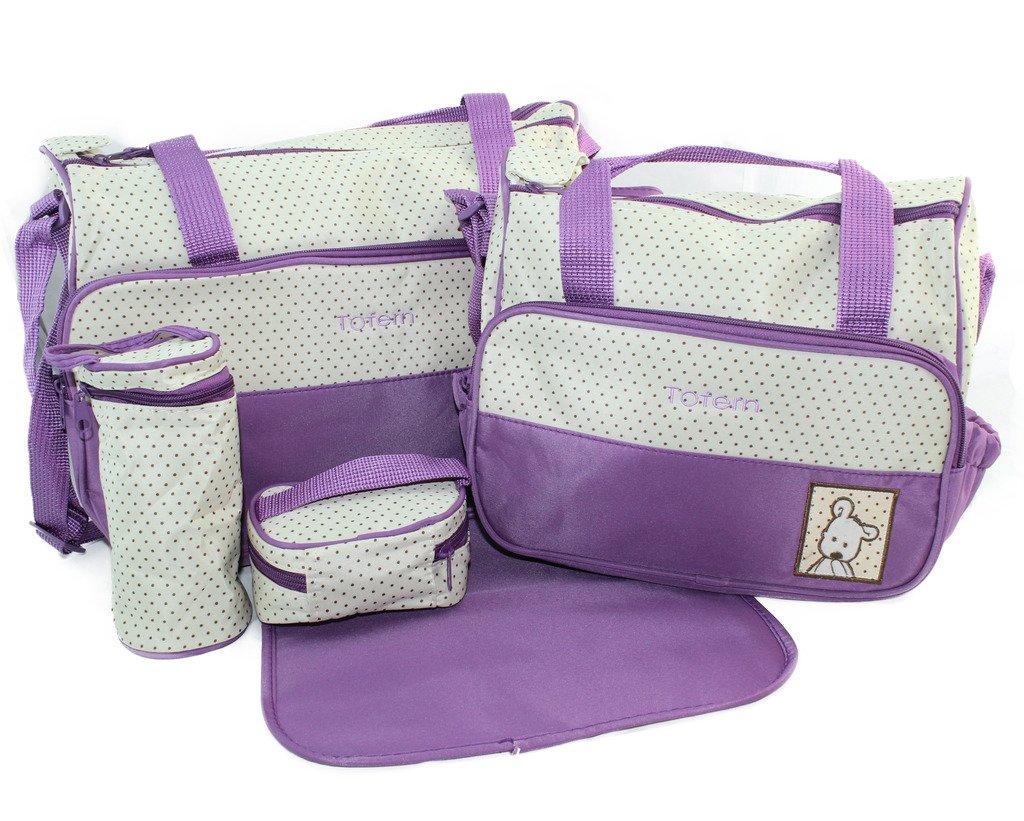 Tofern® - Set con borsa fasciatoio per cambio pannolini, utile per contenere accessori per bambin