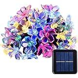شريط مصابيح من 50 ضوء ال اي دي باشكال ازهار الكرز، بقياس 7 متر يعمل بالطاقة الشمسية ومقاوم للماء، للاستخدام الداخلي والخارجي،