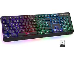 KLIM™ Chroma Wireless - Teclado inalámbrico Gaming ESPAÑOL + Teclado Gaming Ligero, Duradero, resiste al Agua, ergonómico, si
