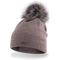Slouch Beanie PaMaMi® 17506 Cuffia da donna, berretto con pompon, lavorato a maglia, molto morbido e caldo, adatto per l…