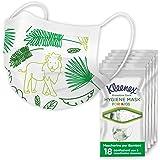 Kleenex Proactive Care Mascherina per Bambini, 90 Mascherine - 18 Pacchi da 5 Mascherine