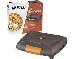 Imetec La TostaGriglia, grille-pain, plaques rayées XL et antiadhésives, interrupteur marche / arrêt, indicateur de chauffage