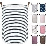 DOKEHOM 18-Inches Grand Organiser Paniers pour Vêtements Stockage, Cordon Paniers à Linge, Pliable Sac à Linge, Pliage Grande