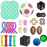 PATISZON Zintuiglijke Fidget Speelgoedset, 21 Pack verlicht stress en anti-angst speelgoedbundel voor kinderen en volwassenen