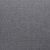 Furninero - 140 cm Breit, Geknöpfter Gepolsterter Sitzbank Sitzhocker Sitzruhe Betthocker Ottomane mit Stauraum gerundete Beine, Naturel Grey Stoff, Grau