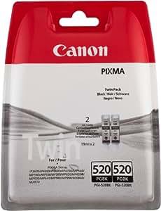 Canon PGI-520BK Ink Cartridges - Black (Pack of 2)