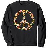 Peace Love Tenue Hippie Flower Power Années 60 70 Sweatshirt