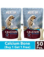 Meat up Calcium Bone Pouch, Dog Treats - 25 Pieces (230 gm) (Buy 1 GET 1 Free)