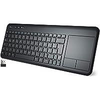 WisFox Kabellose Touchpad Tastatur, Ultraflaches 2.4-G Kabellose Tastatur mit Einfacher Mediensteuerung und Eingebautes…