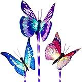 Beleuchtung Außen Solarleuchte Garten, Lvyleaf 3 Packung Solar Garten Lampen mit Farbwechsel Optik LED Schmetterling…