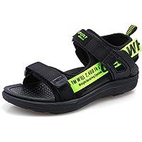 Boys Sandals Child Open Toe Sandal Kids Summer 2-Strap Beach Shoes Black Grey Green Red