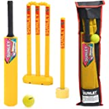 SUNLEY Plastic Cricket kit for All Age Groups and Sizes (1 Piece Cricket Bat, 4 Piece Wickets, 2 Piece Base, 2 Piece…