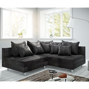 DELIFE Couch Clovis Modular   Ecksofa, Sofa, Wohnlandschaft U0026 Modulsofa  (Anthrazit, Ecksofa