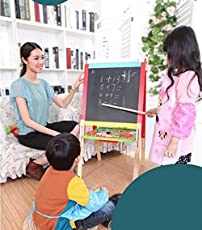 Onshine Wooden Double-Sided Magnetic Easel for Kids, Large, 1 Piece