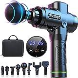 Pistolet de Massage Musculaire, Appareil de Massage Puissant Silencieux avec 30 Vitesses 8 Têtes de Massage l'Écran LCD 14mm