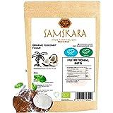 Milieuvriendelijk kokosmeel SAMSKARA SUPERFOODS BIO Organische RAW Coconut Flour - glutenvrij bakken en gezonde bloem alterna