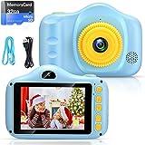 Cámara para Niños Infantil Cámara de Fotos Digital Cámara Juguete para Niños 3.5 Pulgadas 12MP 1080P HD Selfie Video Cámara R