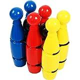 HTI Fun Sport 6x Skittles in Net | Geweldige Kids Bowling Game Set Perfect voor kinderen en volwassenen om te spelen