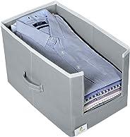 HomeStrap Non Woven Shirt Stacker/Shirt Organizer Wardrobe Organizer- Grey- Pack of 1