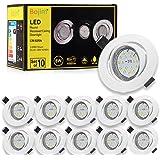 Spots LED Encastrables Orientable Bojim 6x GU10 6W Blanc Neutre 4500K Lumière du jour Spot de plafond Blanc Mat 600lm Equival