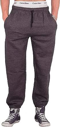 Love My Fashions Men Bottoms Joggers Lounge Pants Tracksuit Jog Bottom Fleece Zip Pockets