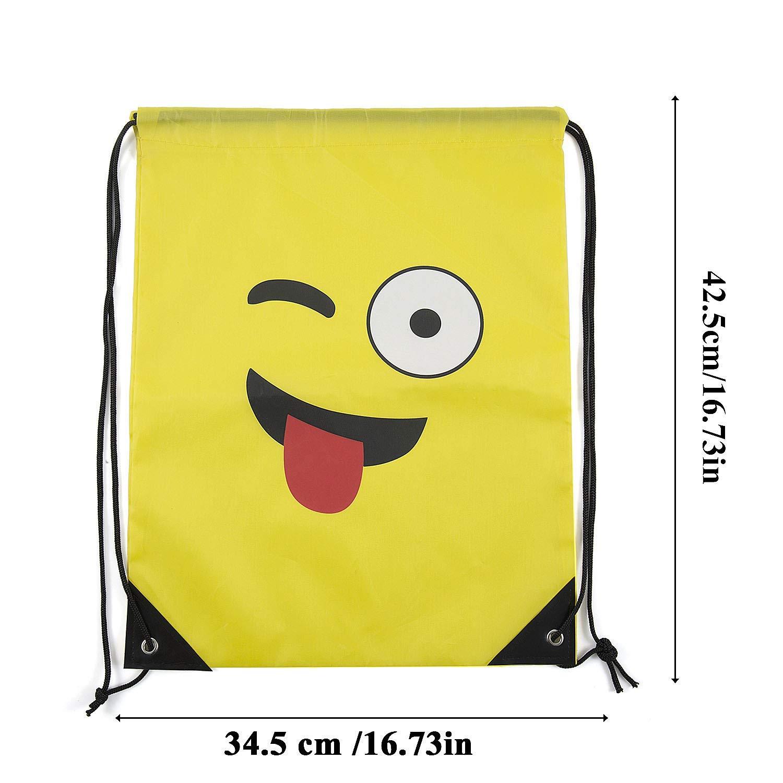 Comius Regalo Deporte Bolsas Backpack Petate EmoticonosCordón Cumpleaños De Emoji Mochila Gimnasio Cuerdas6 Pack Mochilas OkuXZPi