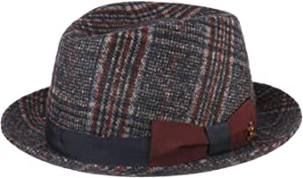 Lierys Cappello Vineland Player Donna/Uomo - Made in Italy Pork Pie con Fodera, Nastro Grosgrain, Grosgrain Autunno/Inverno