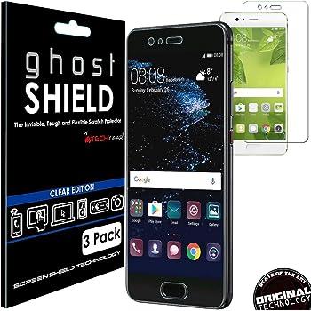 [unidades 3] Techgear® Huawei P10 [ghostshield Edition] Genuine reforzado TPU protector de pantalla Guardia Covers con pantalla completa cobertura incluso ...