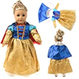 WENTS Doll Clothes and Accessories 3PCS Fashion Doll Clothes and Accessories with Mickey Dress Doll Clothes Dress Change Show for 18 inch American Girl Doll