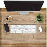 2 en 1 grand sous-main, imperméable avec base antidérapante, surface lisse, tapis d'écriture pour bureau et maison, 50 x 65 c