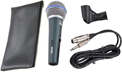 Audiomatic Beta-58A Dynamic High Performance Vocal Microphone with 3.5MM Connector Supports Laptop & PC