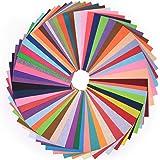 HellDoler Tissu en Feutre, 60pcs DIY Feuille de Feutrine 20x30cm Multi-Couleurs pour Artisanat Patchwork Couture ou Bricolage