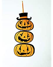 My Party Suppliers Pumpkin Hanging Strips Window Decoration for Halloween