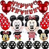 Mickey Themed Decoraciones de Fiesta, BESTZY Mickey Party Globos Artículos de Fiesta de Mickey y Minnie para Fiestas de Cumpl