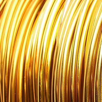 Schmuckdraht 60m x 2mm Aludraht rund Orange Aluminiumdraht