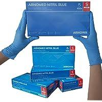 ARNOMED Nitril Einweghandschuhe S, puderfrei, latexfrei, 100 Stück/Box, Einmalhandschuhe, Blaue Nitrilhandschuhe, in Gr…