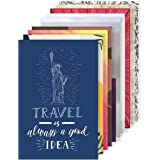 Amazon Brand - Solimo Wall Posters with Adhesive Tape, Set of 10 Travel Themed Posters
