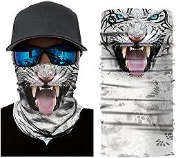 Colorful Damen/Herren Multifunktionstuch | Sturmmaske | Bandana | Schlauchtuch | Halstuch für Motorrad Fahrrad Ski Paintball Gamer Karneval Kostüm 3D Tiere Maske