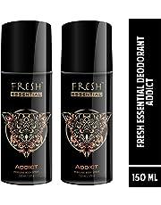 Fresh Essential Deodorant - Addict, 150 ml (Pack of 2)