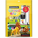 Classmate Disney Colour Fun Combo Kit | 7 Assorted Items | Gifting Kit | Drawing Book | Wax Crayons | Oil Pastels | Sketch Pe