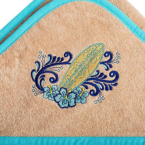 Eislava Kapuzenhandtuch 100x100 Surf Blossom Frottee Badetuch mit Kapuze Oeko-Tex Baumwolle Kinder und Baby Kapuzentuch (Blossom Bademantel)