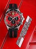 Scuderia Ferrari Mens Chronograph Quartz Watch with Silicone Strap 0830595