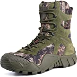 FREE SOLDIER Men Military Boots High-top Combat Tactical Boots Lace Up All Terrain Shoes for Hiking, Hunting, Working, Walkin