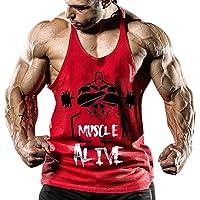 Homme Musculation Débardeurs Tank Top de Sport sans Manches Tee Tops